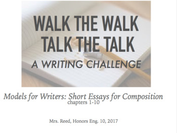 Talk the Talk, Walk the Walk: Writing Comprehension and Te