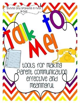 Talk to Me {Parent Communication Resource Pack}