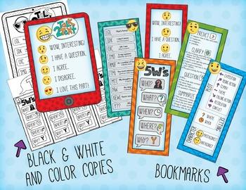 Annotations w/ Emojis & Emoticons - First Week of School Fun w/ Reading