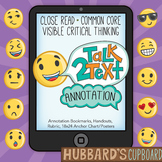 Annotating Text w/ Emojis - Text Coding - Close Reading Tool - Literacy Centers