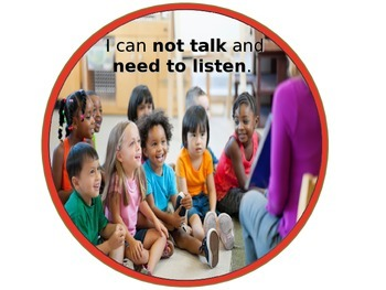Talk vs. Listen Visual for Primary Learners