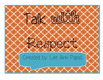 Talk with Respect Anchor Chart