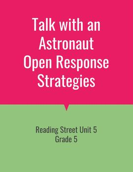 Talk with an Astronaut Open Response Strategies (Reading Street 2011)