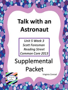 Talk with an Astronaut--Supplemental Packet--Reading Street Grade 5