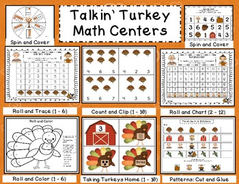 Talkin' Turkey: 7 Math Center Activities