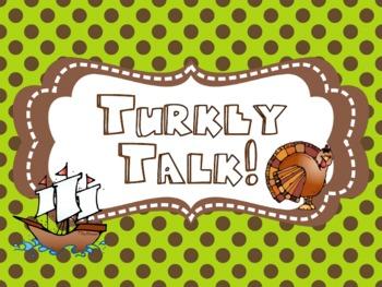Talkin' Turkey {Kindergarten Common Core Math and Literacy Station Activities}