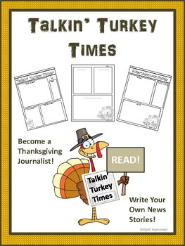 Talkin' Turkey Times: A Thanksgiving Newspaper Writing Activity