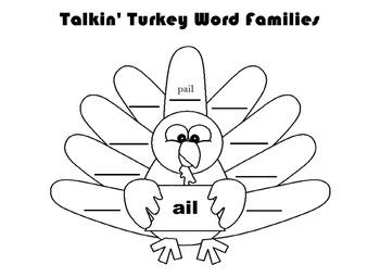 Talkin' Turkey Word Families