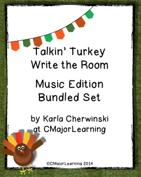 Talkin' Turkey Write the Room Music Edition Bundled Set