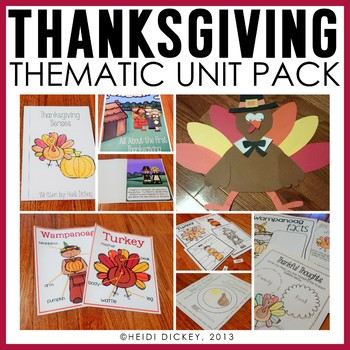 Thanksgiving Thematic Unit & Craft