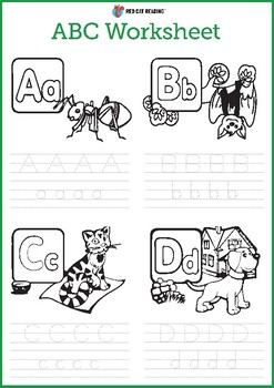 Talking ABC Animals for Kids Worksheet by Red Cat Reading | TpT