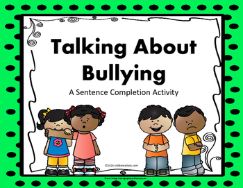Bullying Sentence Completion Activity