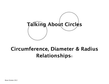 Talking About Circles
