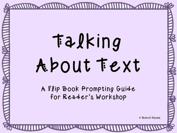 Talking About Text - A Flip Book Prompting Guide