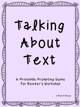Talking About Text - A Printable Prompting Guide