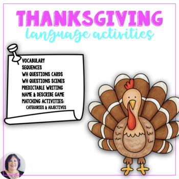 Talking About Thanksgiving Dinner Language in Life Skills for Speech Therapy