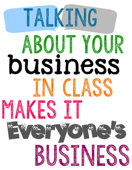 FREE Talking About Your Business Printable Poster