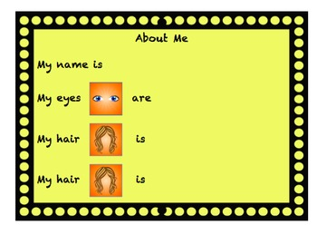 Talking Board Physical Attributes Eyes and Hair Page