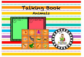 Talking Book Animals Page