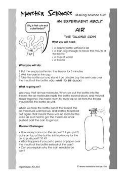 """""""Talking Coin"""" - A Science Experiment about Air"""