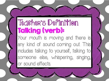 Talking Definition