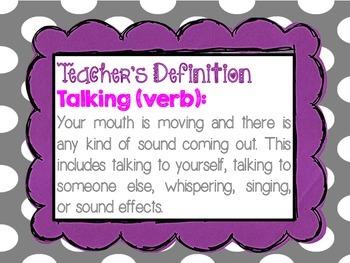 Talking Definition