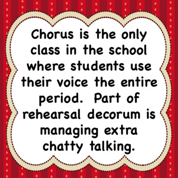 Talking During Chorus Class