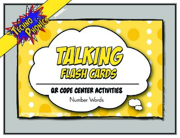 Talking Flash Cards - QR Code Differentiated Center Activities - Number Words
