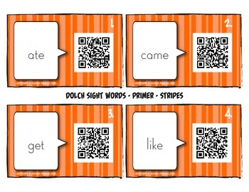 Talking Flash Cards - QR Code Differentiated Center Activities - Primer