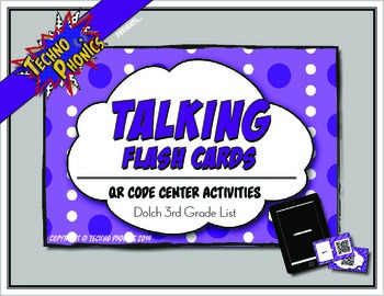 Talking Flash Cards - QR Code Differentiated Center Activities - Third Grade