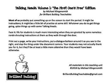 Talking Heads, volume 1