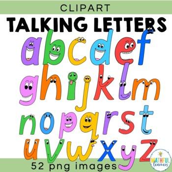 Talking Letters - Alphabet Clipart Set