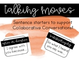Talking Moves Sentence Starters for Collaborative Conversa