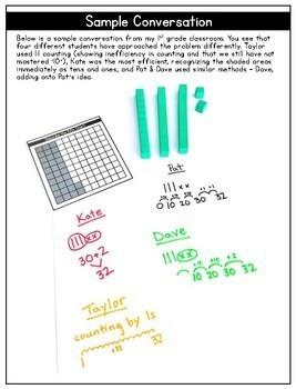 Talking Numbers Bundle: Building Mental Math in 1st Grade Learners
