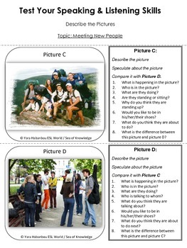 Speaking Activity Cards {Introductions & Meeting People}