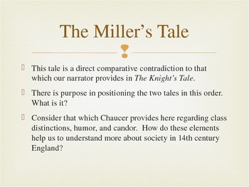 Talking Points - Three of The Canterbury Tales