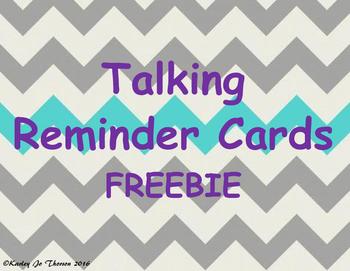 Talking Reminder Cards Freebie