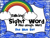 Talking Sight Word Play-dough Mats - The Blue Set