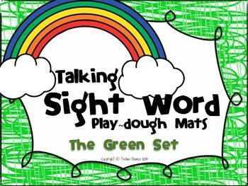 Talking Sight Word Play-dough Mats - The Green Set