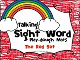 Talking Sight Word Play-dough Mats - The Red Set