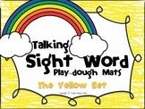 Talking Sight Word Play-dough Mats - The Yellow Set