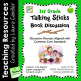 1st Grade Reading Discussion Activity and Task Cards with CCSS Questions