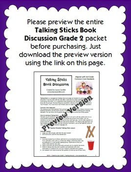 2nd Grade Reading Discussion Activity and Task Cards with CCSS Questions