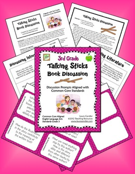 3rd Grade Reading Discussion Activity and Task Cards with CCSS Questions