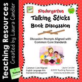 Kindergarten Reading Discussion Activity and Task Cards with CCSS Questions