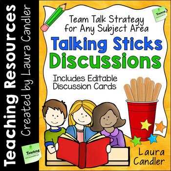Talking Sticks Cooperative Learning Discussion Strategy with Discussion Cards