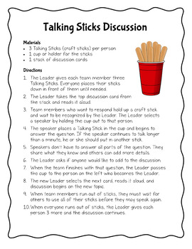 Talking Sticks Cooperative Learning Discussion Strategy with Editable Task Cards