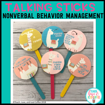 Talking Sticks Llama Edition Nonverbal Behavior Management Tool