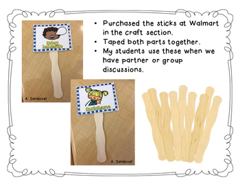 FREE Talking Sticks in Spanish and in English
