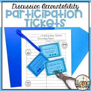 Accountability Talking Tickets: A Way to Encourage Student Participation